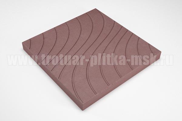 плитка волны коричневая