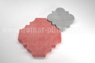 плитка гжелка красная с серой